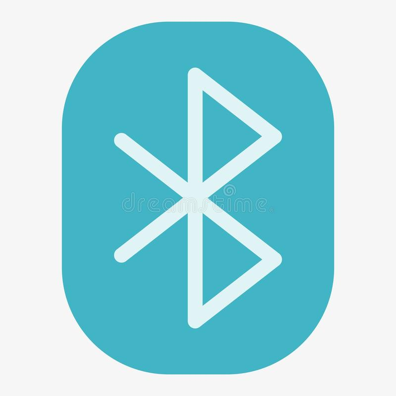 Bluetooth Vector Icon royalty free illustration