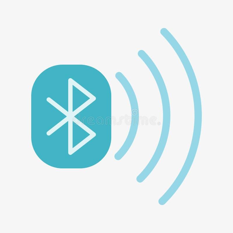 Bluetooth vektorsymbol royaltyfri illustrationer