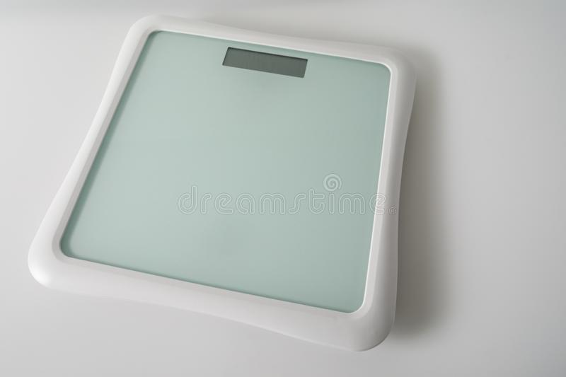 A Bluetooth weight scale used for home monitoring by health care services and hospitals to monitor patients.  royalty free stock photo