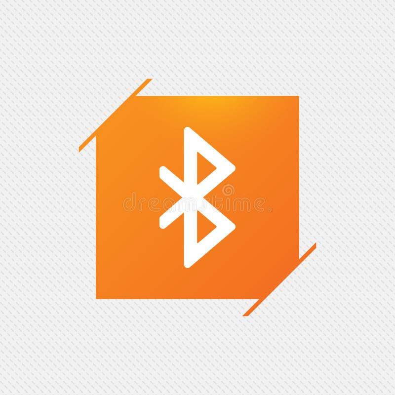Bluetooth znaka ikona Mobilny sieć symbol ilustracja wektor
