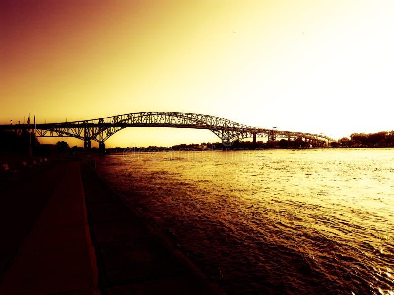 Bluewater桥梁 库存照片