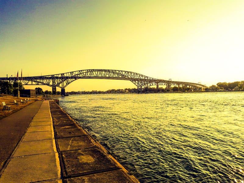 Bluewater桥梁 库存图片