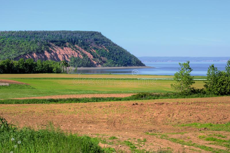 Bluff of Blomidon stock photo