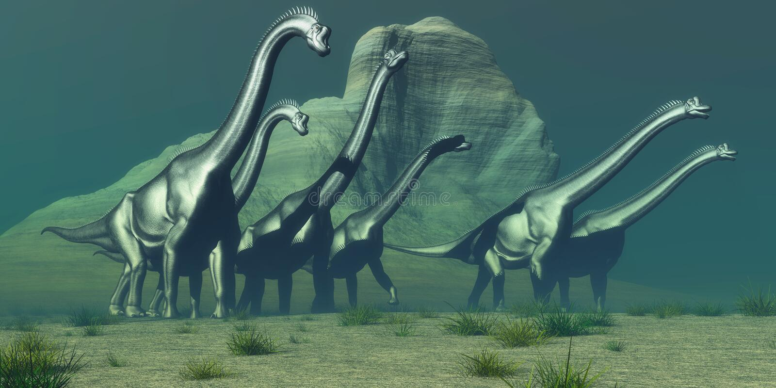 Bluff de Brachiosaurus illustration libre de droits