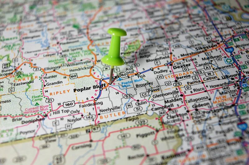 Bluff del pioppo, Missouri fotografie stock libere da diritti