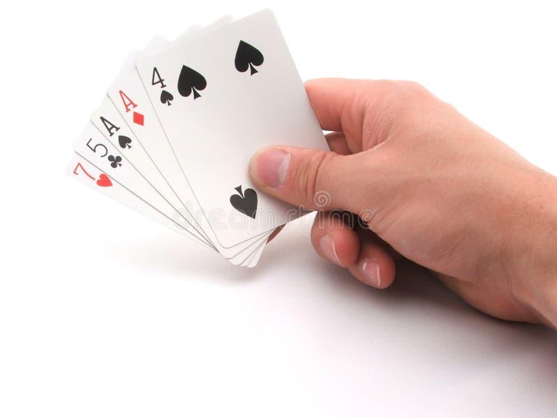 bluff hand στοκ φωτογραφίες