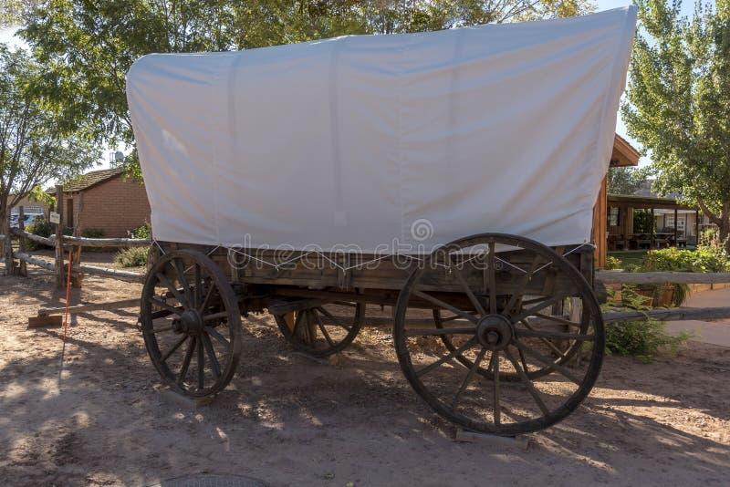 Bluff Utah de centre de visiteur de fort de bluff de chariot couvert photos libres de droits