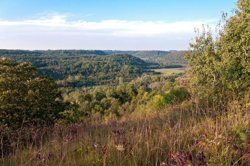 Bluffs Above Rush River Valley royalty free stock photo