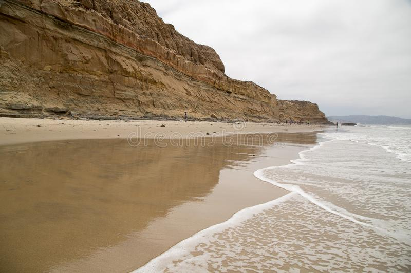 Bluffs chez Torrey Pines State Natural Reserve photographie stock