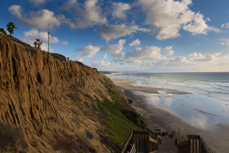 Bluffs de plage d'état de Cardiff photos libres de droits