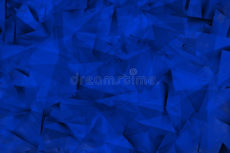 Bluish shapes in the mist. Background with blue triangular shapes in mist enviroment vector illustration