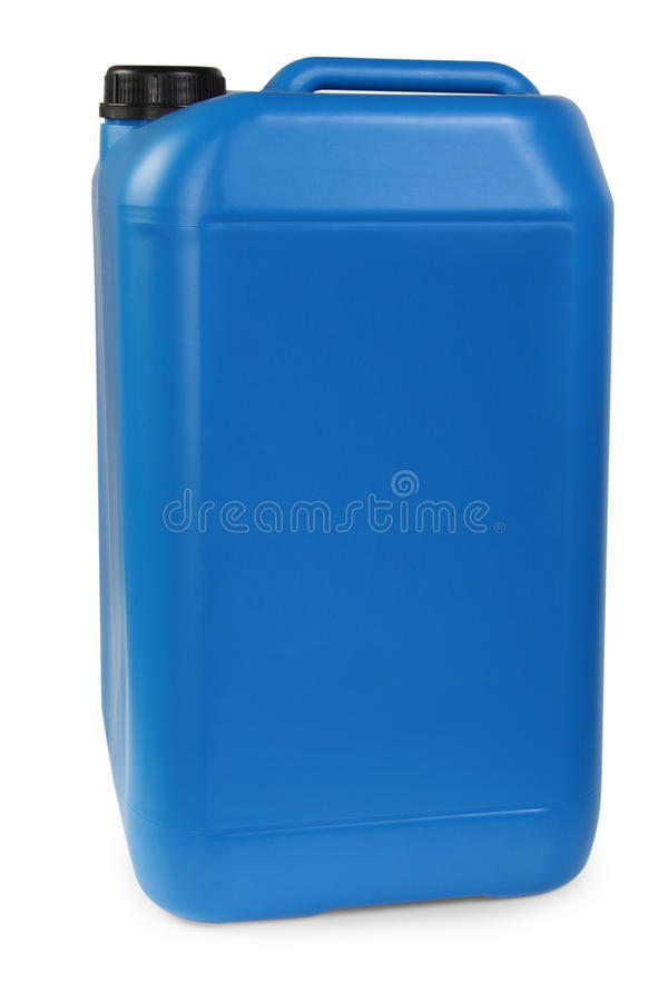 Blule plastic gallon stock foto