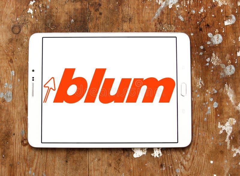 Blum dopasowań firmy Meblarski logo obraz stock