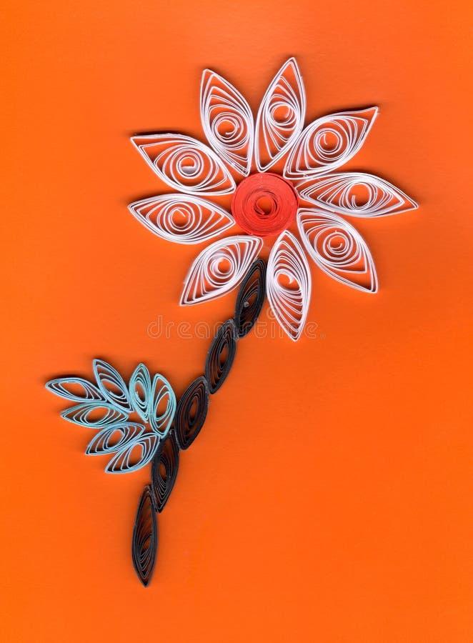 Blume Applique mit dem Quilling stockfotos
