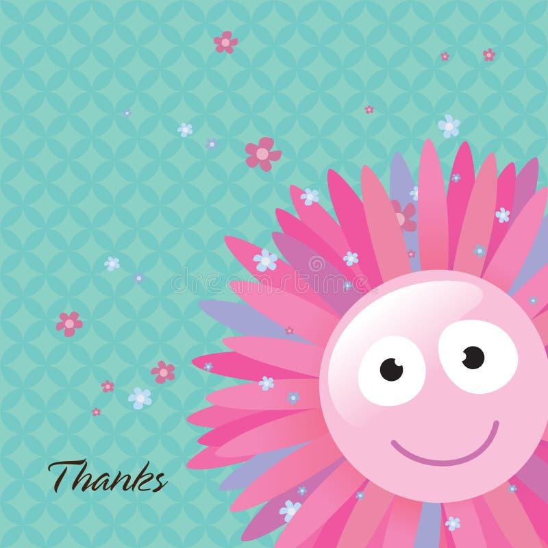 Blume danken Ihnen zu kardieren stock abbildung
