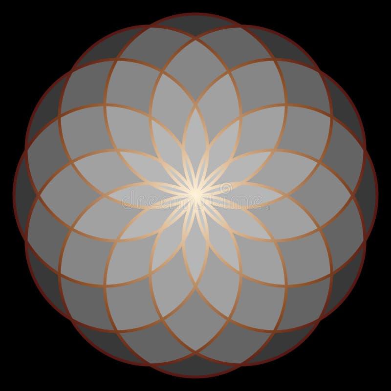 Blume des Lebens Heilige Geometrie stock abbildung