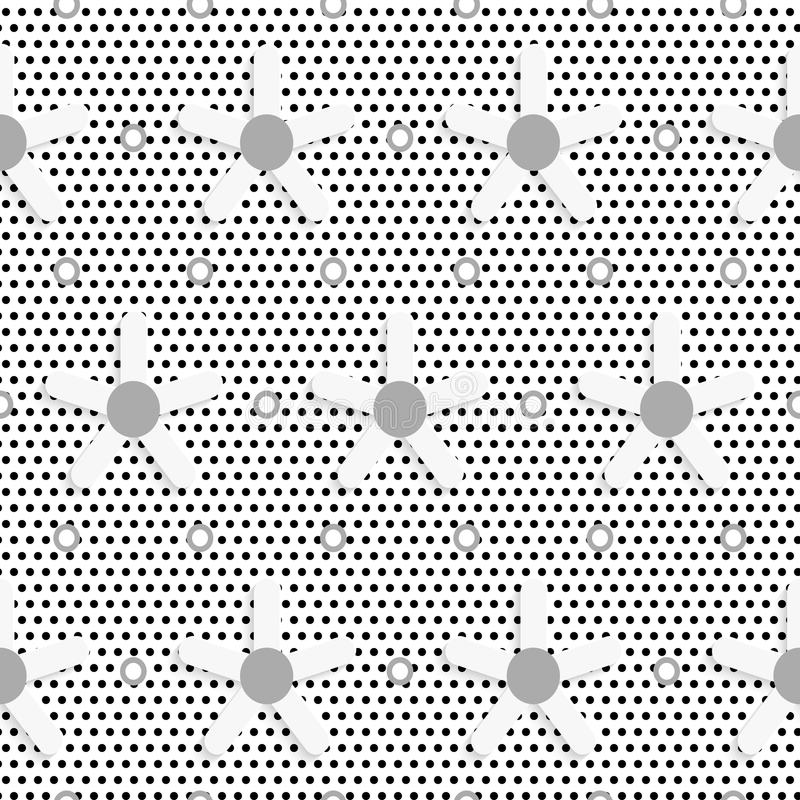 Blume des weißen Gänseblümchens auf strukturiertem Muster der schwarzen Flecke vektor abbildung