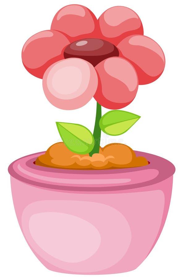 Blume in einem Potenziometer lizenzfreie abbildung