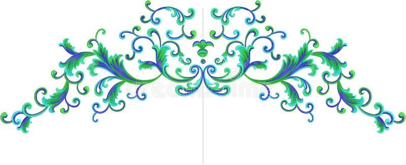 Blume Illustrationsmuster im einfachen Hintergrund vektor abbildung