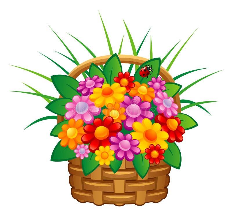 Blume im Korb vektor abbildung