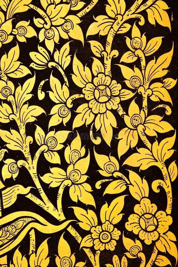 Blume im siamesischen Anstrich der traditionellen Art. stockfoto