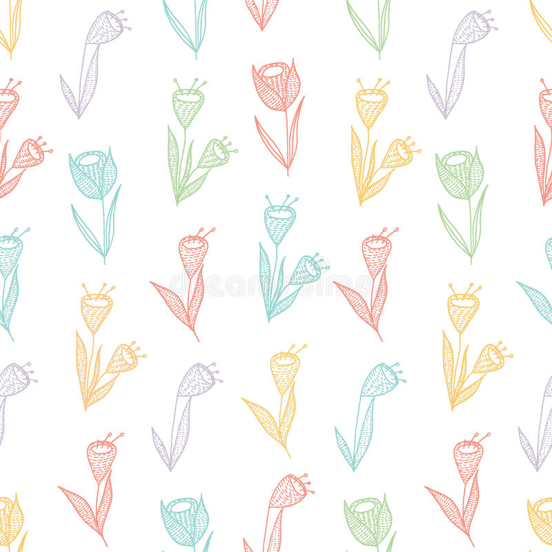 Blume seamles Muster lizenzfreie stockfotografie