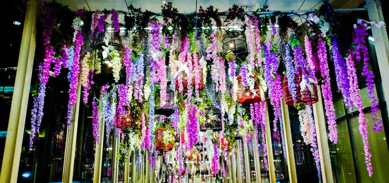 Blume skywalk lizenzfreies stockbild