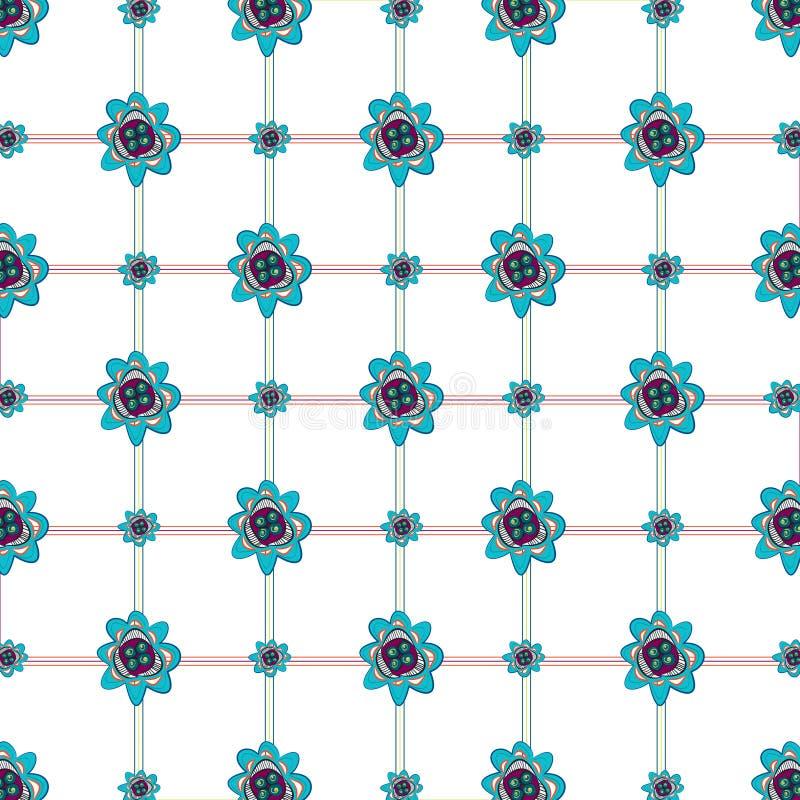 Blume u. Plaid kopierter Hintergrund lizenzfreies stockbild