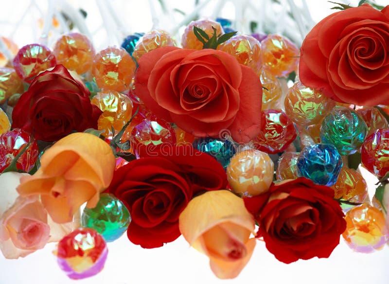 Blume und Süßigkeit lizenzfreie stockbilder