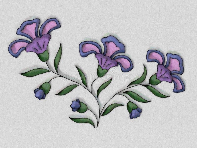 Blumen-Abbildung im Purpur stock abbildung