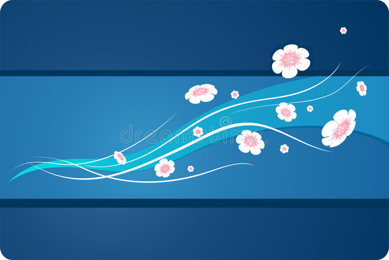 Blumen auf dem Wind lizenzfreie abbildung
