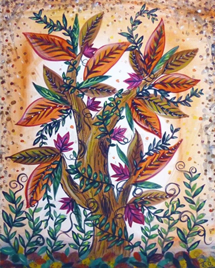 Blumen-Baumzusammenfassung stockbild