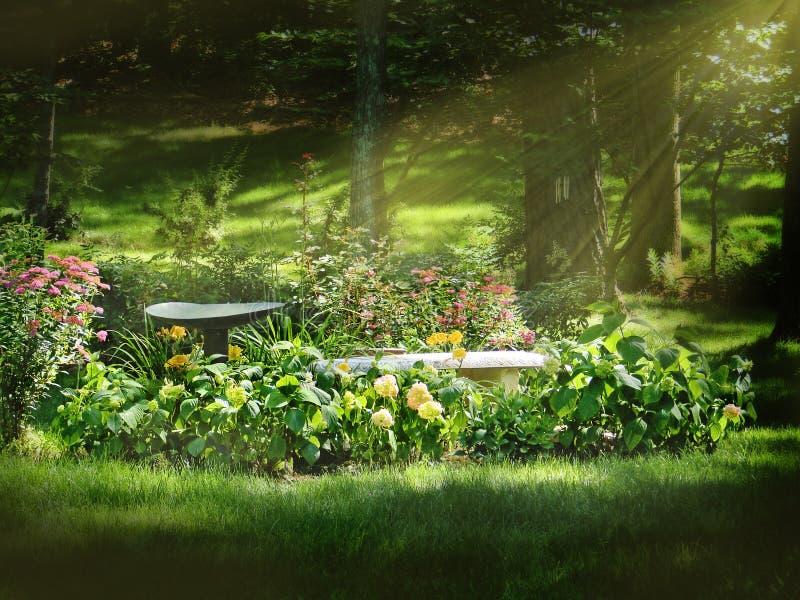 Blumen-Bett lizenzfreie stockfotografie