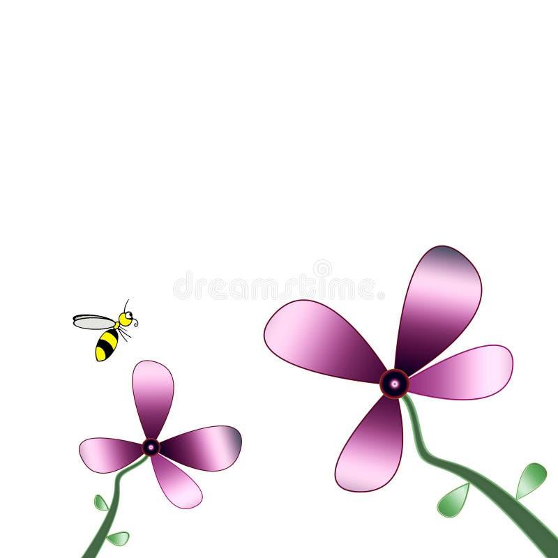 Blumen-Biene stockfotos