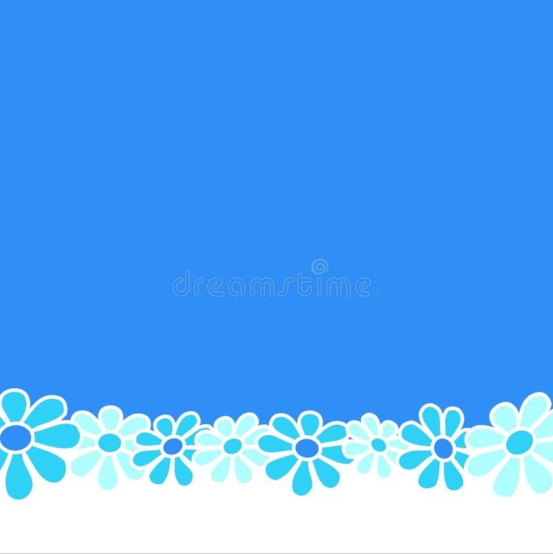 Blumen - blauer Aufbau lizenzfreie abbildung