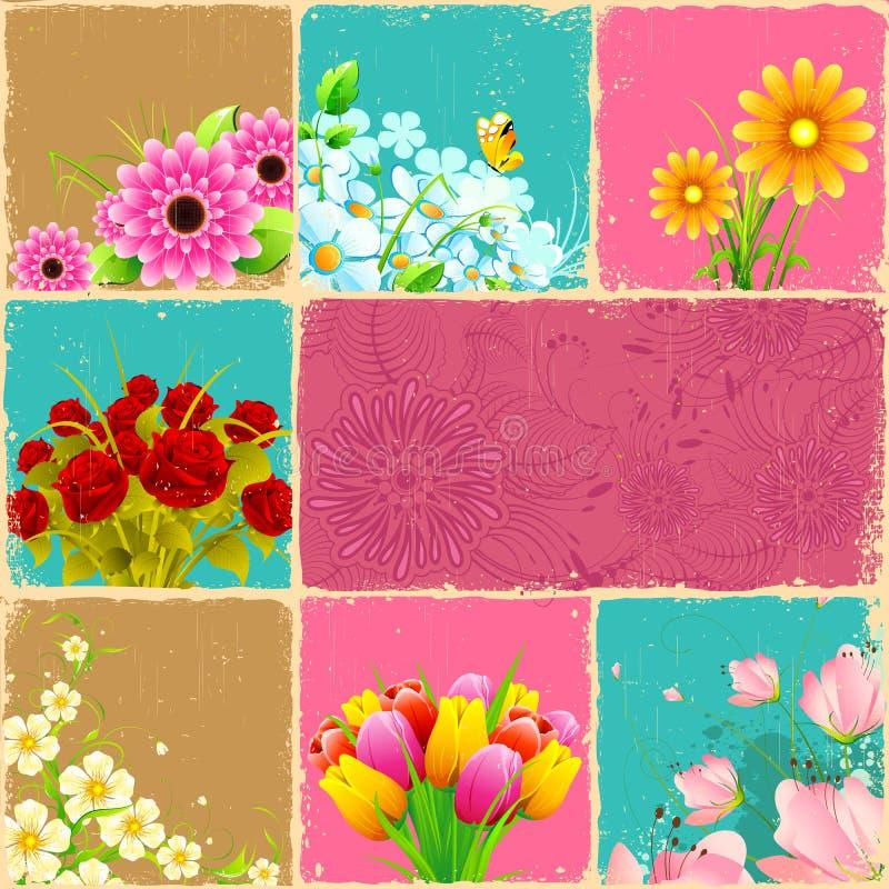 Blumen-Collage stock abbildung