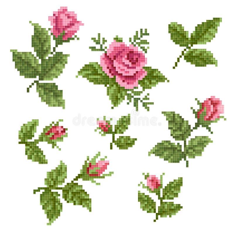 Blumen-decorativ Element lizenzfreie abbildung