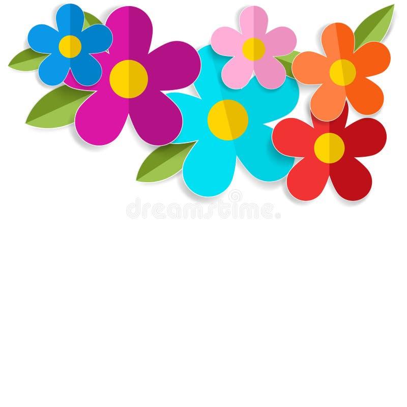 Blumen des Frühlinges 3d lokalisiert auf Weiß Vektor eps10 stock abbildung