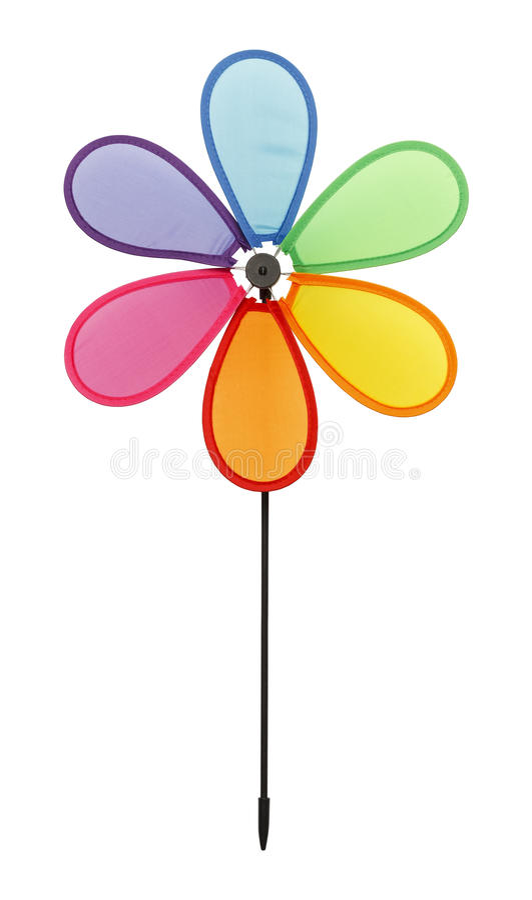Blumen-Drehbeschleunigungs-Rad stockfotografie