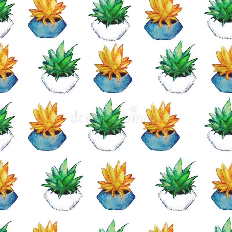 Blumen in einem Topfmuster lizenzfreie stockfotos