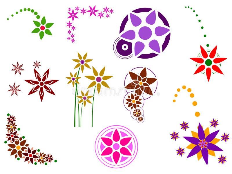 Blumen-Elemente lizenzfreie abbildung