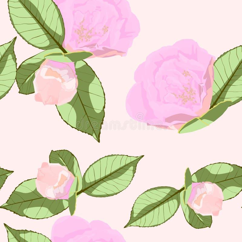 Blumen entwerfen Satz mit Pfingstrosenblumenpaaren der grünen Blätter und der roten Rosen vektor abbildung