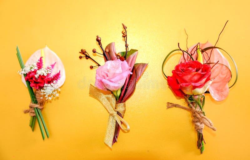 Blumen für Hochzeit lizenzfreie stockfotos