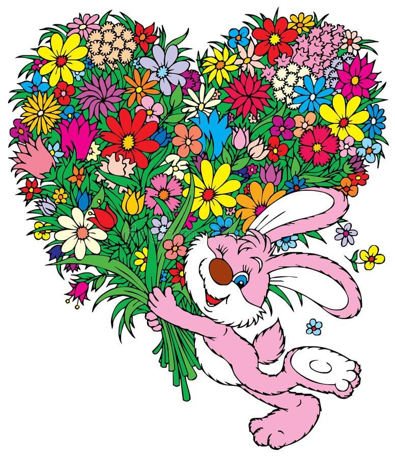 Blumen für Sie lizenzfreie abbildung