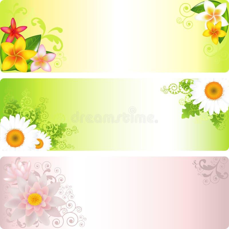 Blumen-Fahne vektor abbildung
