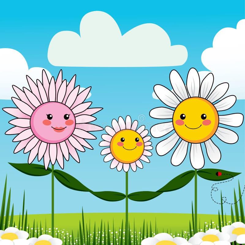 Blumen-Familie lizenzfreie abbildung