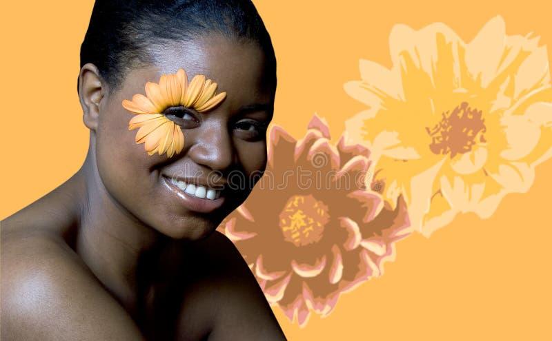 Blumen-Frau stockfoto