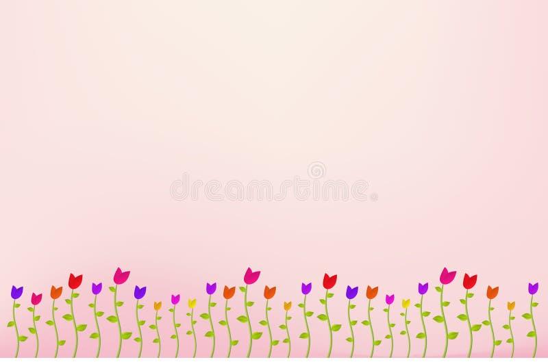 Blumen-Garten-Hintergrund vektor abbildung