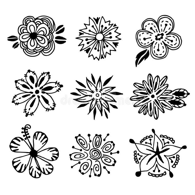 Blumen-Gekritzel stock abbildung