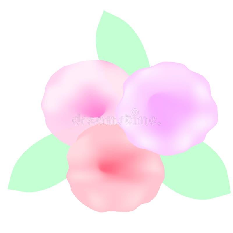 Blumen gemalt mit Aquarellen lizenzfreies stockbild